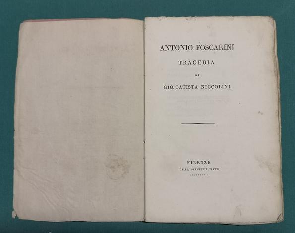 <strong>Antonio Foscarini. Tragedia.</strong>