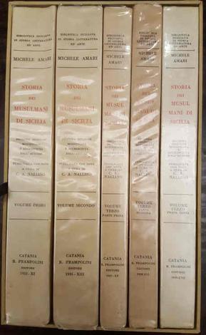 <strong>Storia dei Musulmani di Sicilia. Seconda edizione modificata e accresciuta dall'autore. Pubblicata con note a cura di Carlo Alfonso Nallino.</strong>
