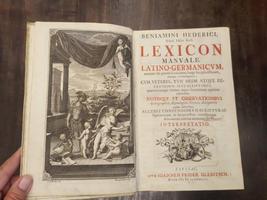 Lexicon Manuale Latino-Germanicum, omnium sui generis Lexicorum longe locupletissimum...cum veteres, tum medii atque recentioris aevi scriptores, quarumcunque Artium atque Scientiarumn apprime commodum,