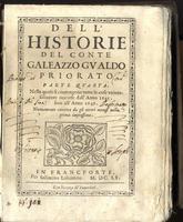 Dell' Historie. Parte quarta. Nella quale si contengono tutte le cose universalmente occorse dall'anno 1645 fino all'anno 1649.