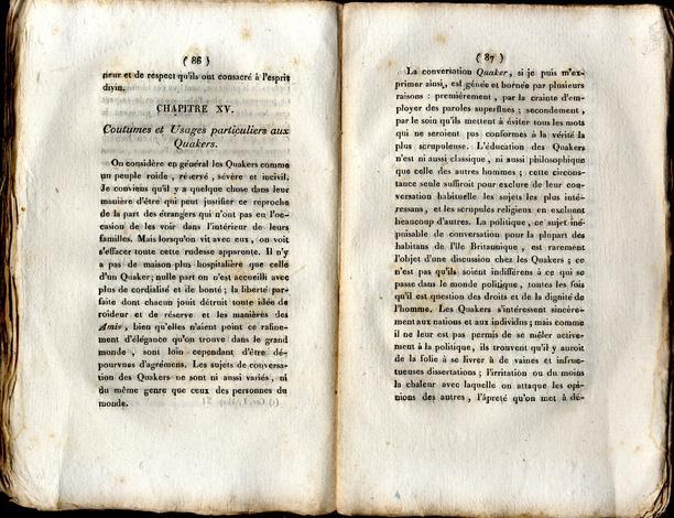 <strong>Histoire des Quakers</strong>; traduite de l'anglais de Clarkson, et suivie du récit de la réforme operée dans la prison de Newgate, a Londres, par le comité des dames.