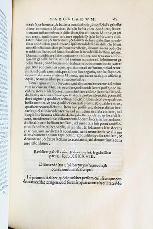 STATUTI E GRIDA. Gride ducali, provisioni, gratie et ragioni della città di Modena.