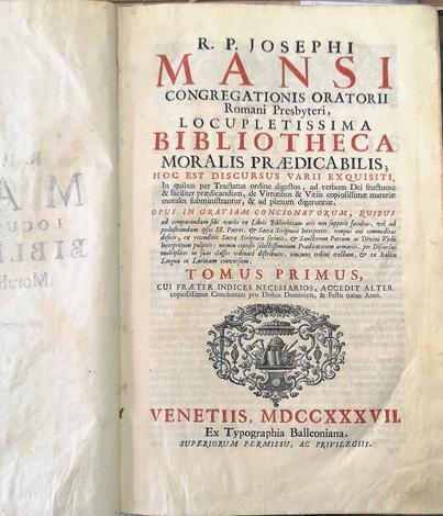 <strong>Locupletissima bibliotheca moralis praedicabilis, hoc est discursus varii exquisiti...</strong>