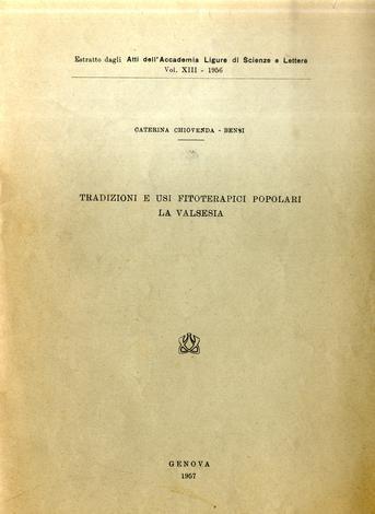 Tradizioni e usi fitoterapici popolari. La Valsesia