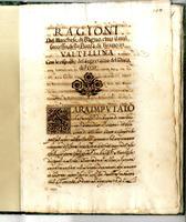 del Marchese di Bagno circa il mal successo della Piazza di Tirano in Valtellina. Con le risposte del Segretario del Duca di Feria.