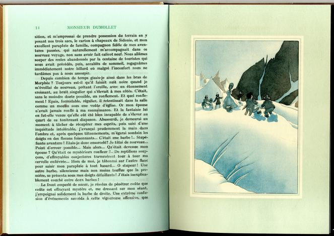 <strong>M. Dumollet sur le Mont-Blanc.</strong> Les Aventures surprenantes de M. Dumollet (de saint-Malo) durant son voyage de 1837 aux glacières de Savoie et d'Helvétie...