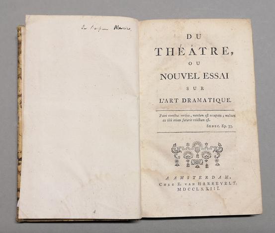 <strong>Du Théâtre, ou nouvel essai sur l'Art Dramatique.</strong>
