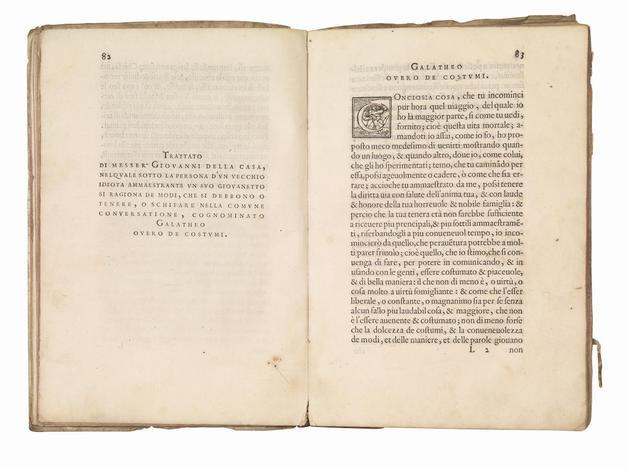 <strong>(Il Galateo, in:) Rime, et Prose di M. Giovanni della Casa.</strong> Con le Concessioni, & Priuilegii di tutti i Prencipi.
