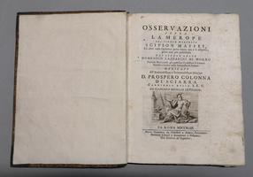 <strong>Osservazioni sopra la Merope di Scipion Maffei, ed altre varie Operette</strong>parte finora qua e là disperse, parte non più pubblicate...