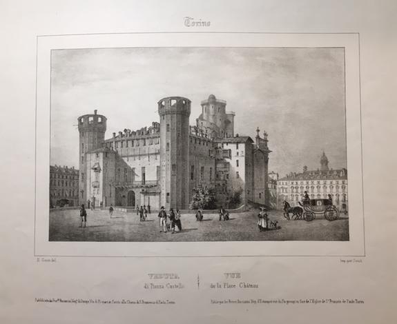 <strong>Veduta di Piazza Castello</strong>/Vue de la Place Chateau.