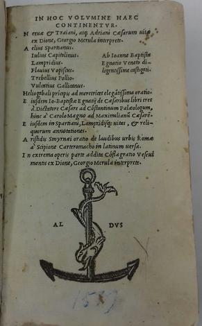 <strong>Nervae et Trainani, atq. Adriani Caesarum vitae ex Dione, Georgio Merula interprete (ed altre opere).</strong>