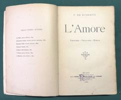 <strong>L'Amore. Fisiologia. Psicologia. Morale.</strong>