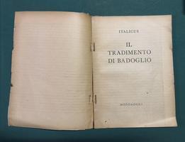 <strong>Il tradimento di Badoglio.</strong>