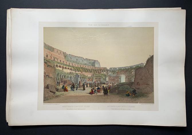 <strong>Amphitheatre Flavius dit colisée/Anfiteatro Flavio detto il Colosseo.</strong>
