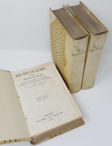 <strong>Edizioni originali di opere leopardiane contenute in: ''Lo Spettatore</strong>
