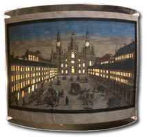 Veduta prospettica della Piazza del Duomo.