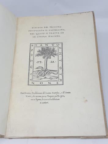 Dialogo del Trissino intitulato il Castellano, nel quale si tratta de la Lingua Italiana.