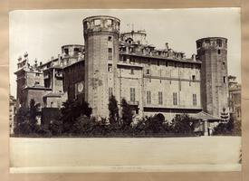 TORINO - PALAZZO MADAMA ala antica senza la copertura delle torri.