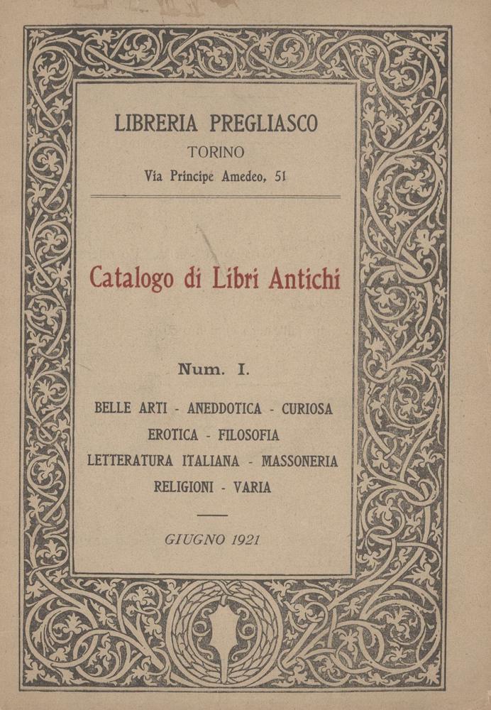 Il Catalogo Uno, l'inizio di un'avventura (1921)