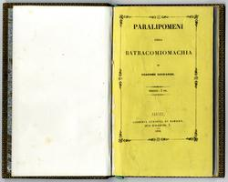 <strong>Paralipomeni della Batracomiomachia</strong>.