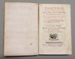 <strong>Tragedie.</strong>Con la traduzione della ''Roma salvata'' di M. de Voltaire e una Cantata per la venuta dell'Imperador a Roma...