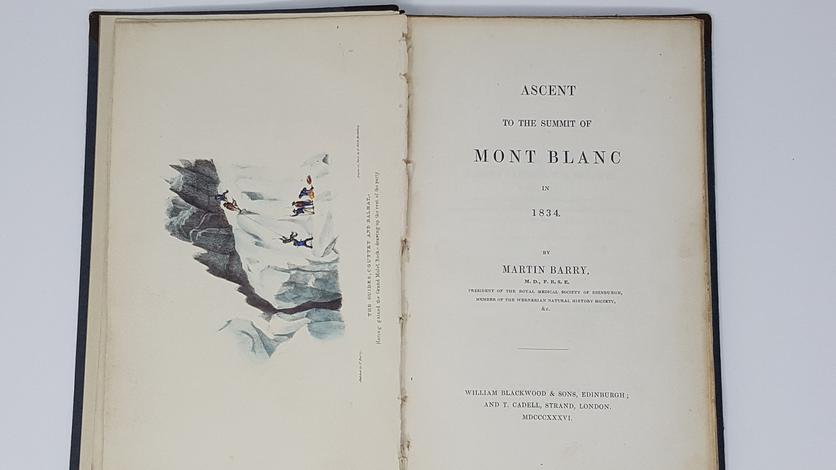 <strong>Ascent to the summit of Mont Blanc in 1934.</strong>