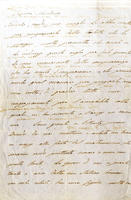 <strong>Lettera autografa firmata a &quot;Signora Marchesa&quot;</strong>