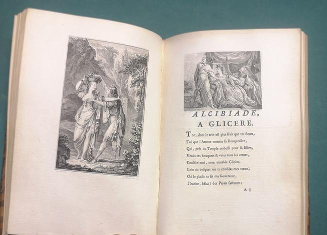 <strong>Les Tourterelles de Zelmis, poëme en trois chants.</strong> (legato con:)<strong>Lettre d'Alcibiade a Glicere</strong>, bouquetiere d'Athénes, suivie d'une Lettre de Venus a Pâris et d'une Epitre a la maitresse que j'aurai. (legato con:)<st