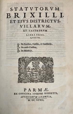 <strong>Statutorum Brixilli, et eius districtus, villarum,</strong>