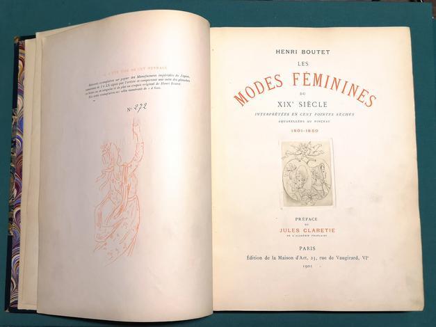 <strong>Les Modes féminines du XIX siècle interprétées en cent pointes-sèches aquarellées au pinceau. 1801-1850.</strong>