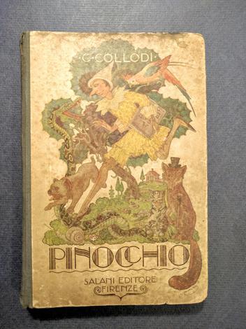 <strong>Le avventure di Pinocchio.</strong> Storia di un burattino; illustrata da Luigi e M. Augusta Cavalieri.