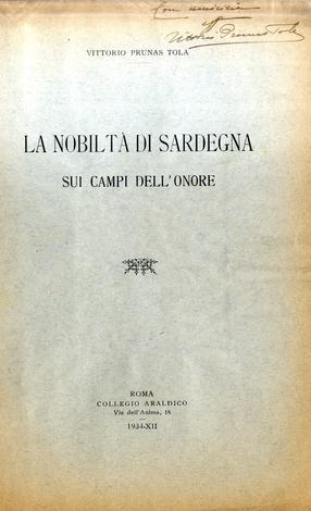 La Nobiltà di Sardegna sui campi dell'onore