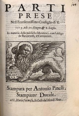 MERETRICI, Governo di Venezia