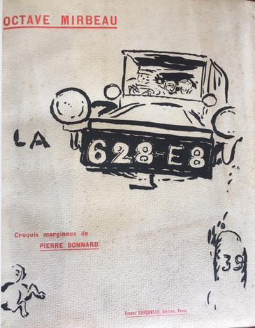 <strong>La 628-E8. Croquis marginaux de Pierre Bonnard.</strong>