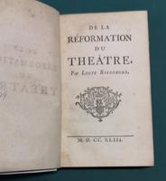 <strong>De la Réformation du Théâtre.</strong>