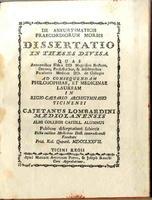 <strong>De aneurysmaticis praecordium morbis. Dissertatio in theses divisa</strong>