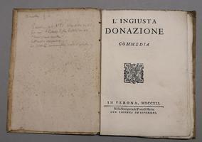 <strong>L'Ingiusta Donazione, commedia.</strong>