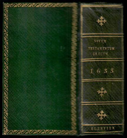 BIBBIA. He Kainè diathéke. Novum testamentum. Lugd. Batavorum, ex officina Elzeviriorum, 1633.