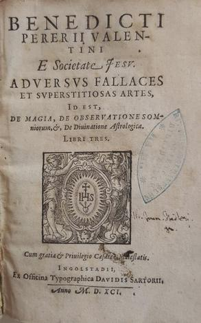 <strong>Adversus fallaces et superstitiosas artes, id est, De magia,</strong> de observationes somniorum, &, de divinatione astrologia libri tres.