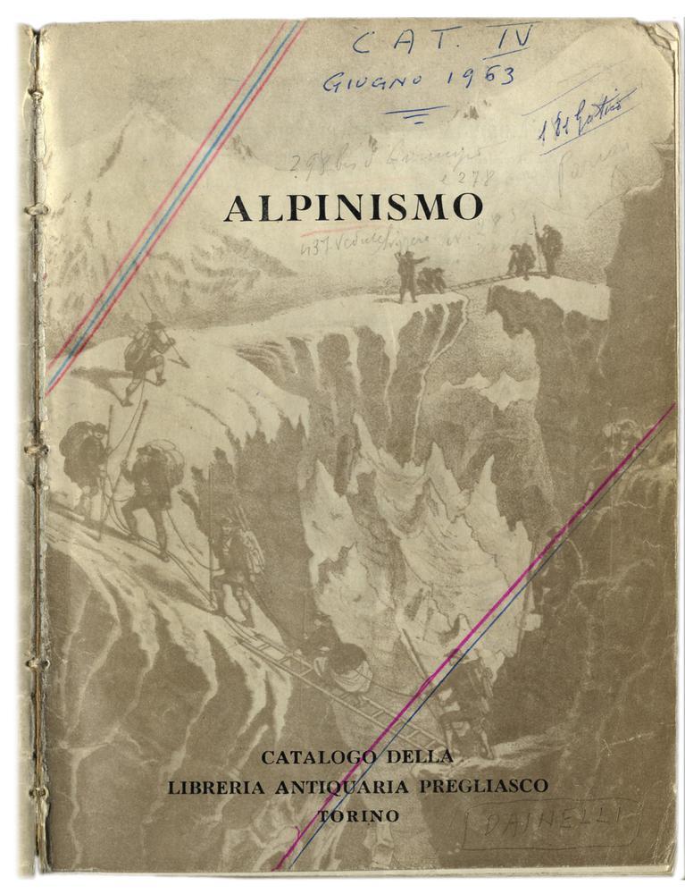 Il primo catalogo monografico e l'amore per la Montagna (1963)