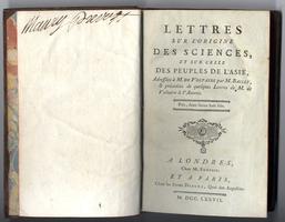 <strong>Lettres sur l'origine des sciences, et sur celle des peuples de l'Asie.</strong>