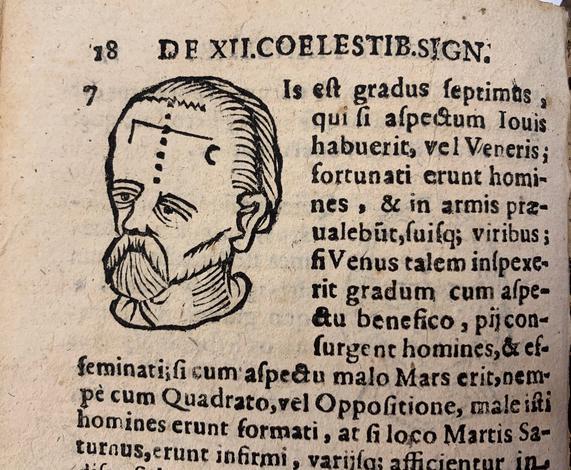 <strong>De duodecim coelestibus signis; in 360 gradibus divisis cum eorum inclinationibus, & naturis.</strong>