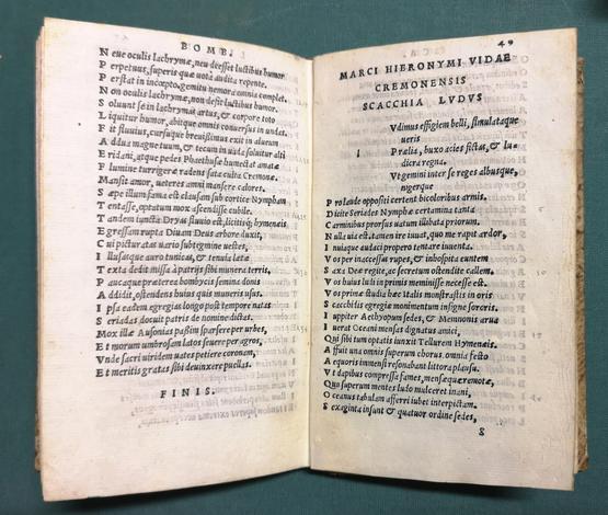 (Operum liber alter:) <strong>De arte poetica lib. III. De bombyce lib. II. Scacchia lib. I. Bucolica eclogae III. Carmina diversi generis pleraq. non antehac edita.</strong>