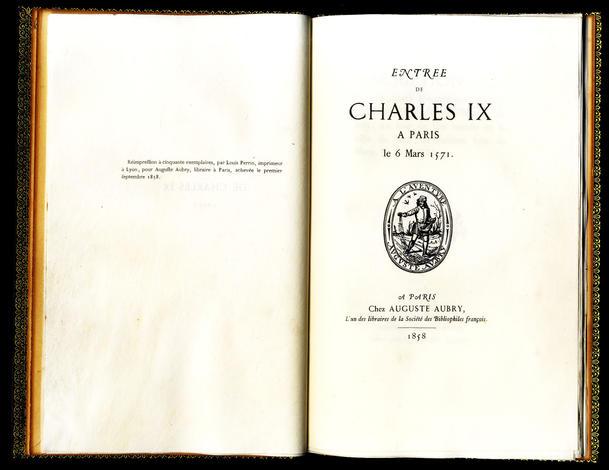 ENTREE DE CHARLES IX A PARIS LE 6 MARS 1571