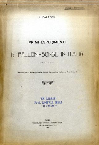 I primi esperimenti di palloni-sonde in Italia