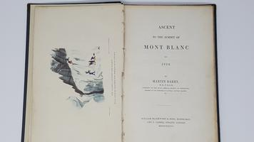 <strong>Ascent to the summit of Mont Blanc in 1934. </strong>