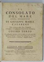 DEL MARE (IL). Colla spiegazione di Gius. Maria Casaregi...