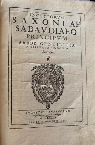 <strong>Inclytorum Saxoniae Sabaudiaeque Principum arbor gentilitia.</strong>