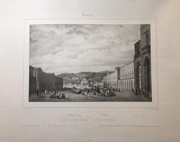 <strong>Veduta della piazza Vittorio Emanuele</strong>/Vue de la Place Victor Emanuel.
