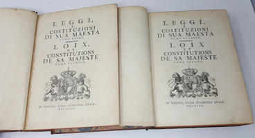 di Sua Maestà - Loix, et Constitutions de Sa Majesté.